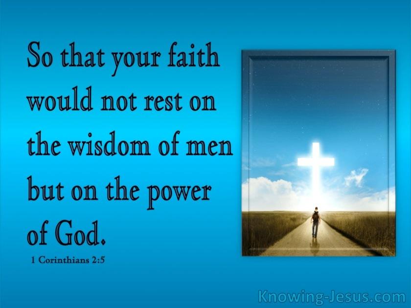 1 Corinthians 2-5 Faith In The Powe Of God blue