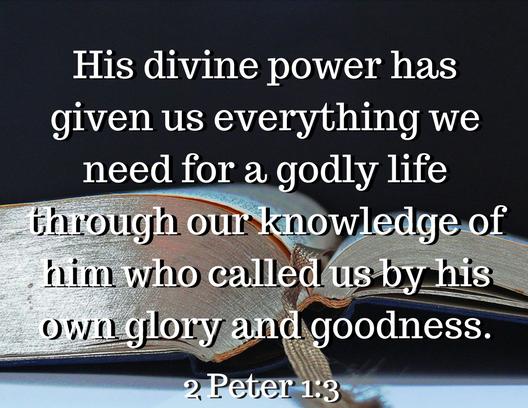 2 Peter 1 3