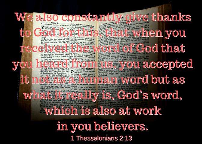1 Thessalonians 2-13