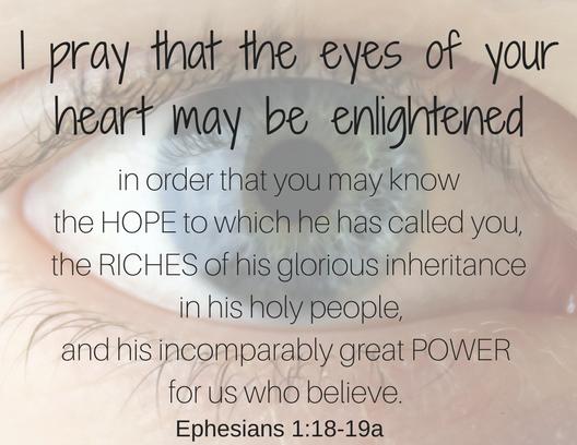 Ephesians 1 18-19a
