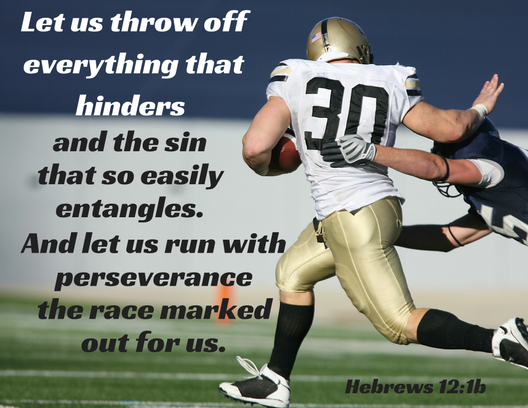 Hebrews 12 1b