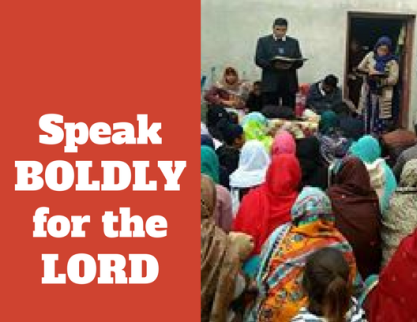 Speak BOLDLY for the Lord