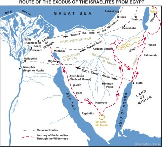 Map-Route-Exodus-Israelites-Egypt