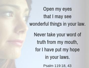 Psalm 119 18 43