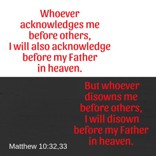 matthew 10 32 33