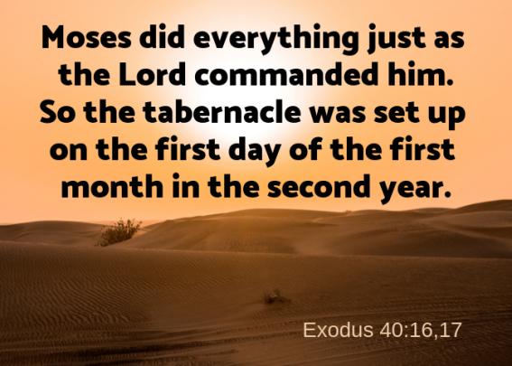Exodus 40 16 17