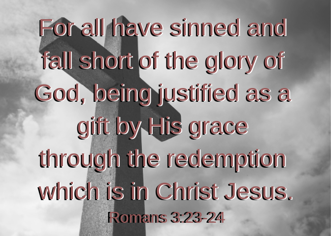 Romans 3 23 and 24