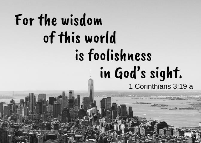 1 Corinthians 3 19 a