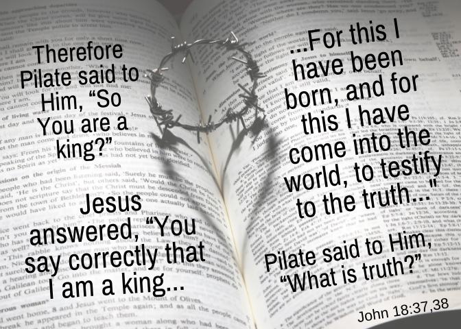 John 18 37 38