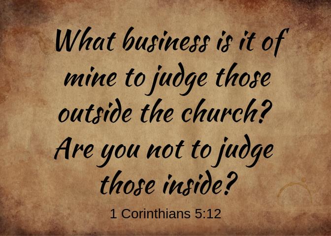 1 Corinthians 5 12