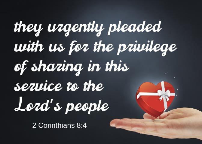 2 Corinthians 8 4