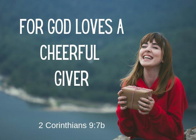 2 Corinthians 9 7 b