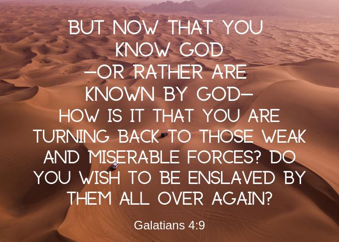 Galatians 4 9