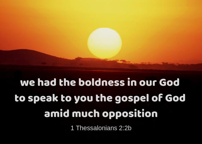 1 Thessalonians 2 2b