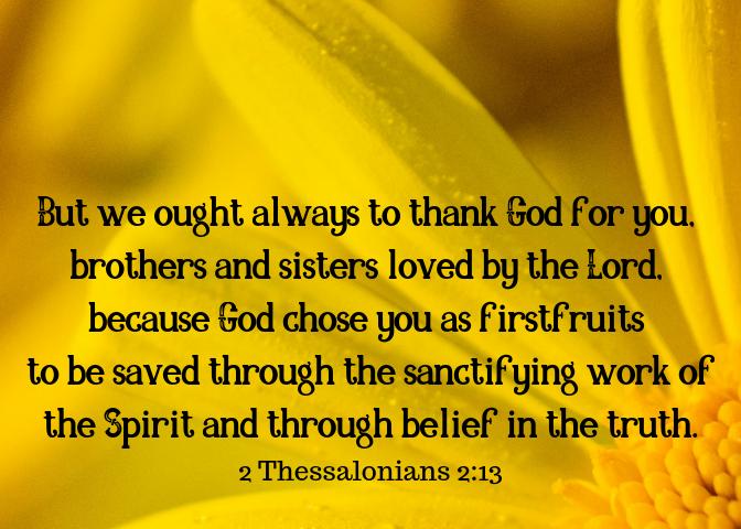 2 Thessalonians 2 13