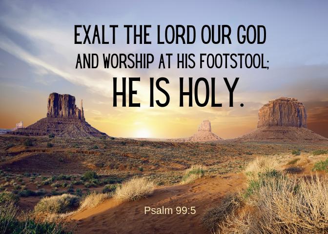 psalm 99 5