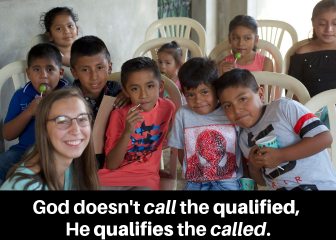 God doesn't call the qualified, He qualifies the called.