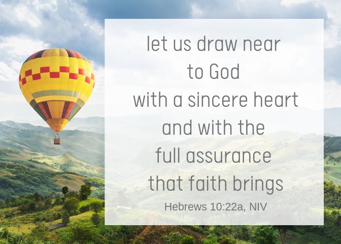 Hebrews 10 22a NIV