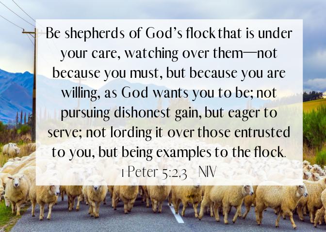 1 Peter 5 2 3 NIV