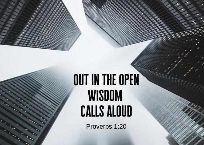 Proverbs 1 20 a