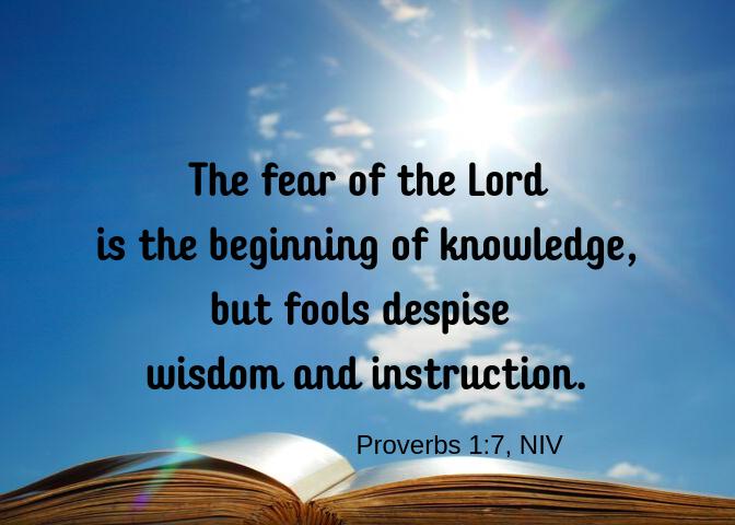 Proverbs 1 7 NIV