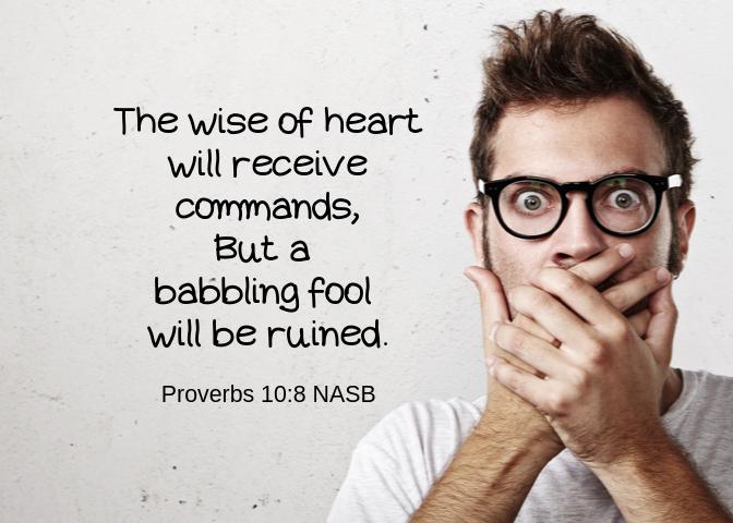 Proverbs 10 8
