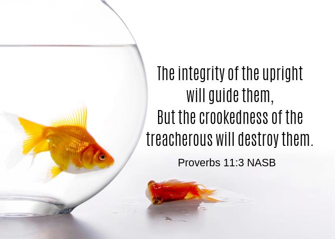 Proverbs 11 3 NASB