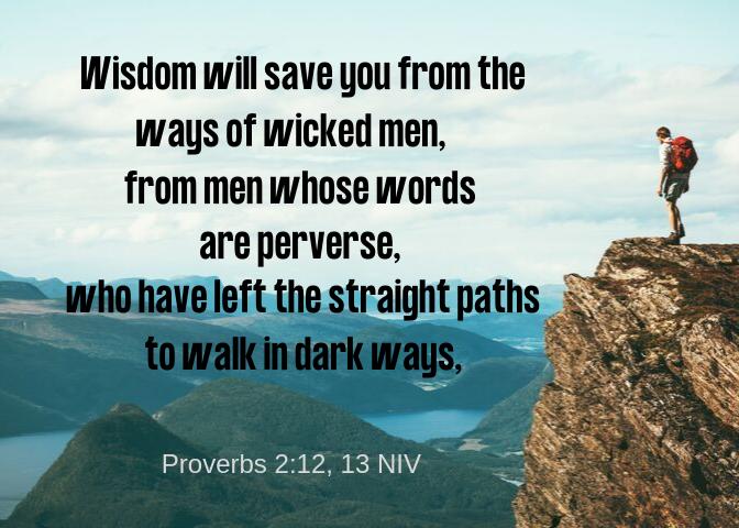 Proverbs 2 12 13 NIV