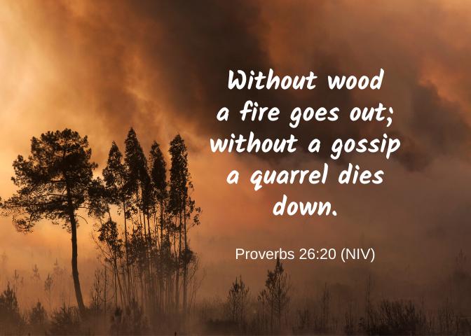 Proverbs 26 20 NIV