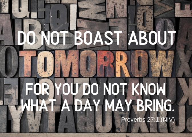 Proverbs 27 1 NIV