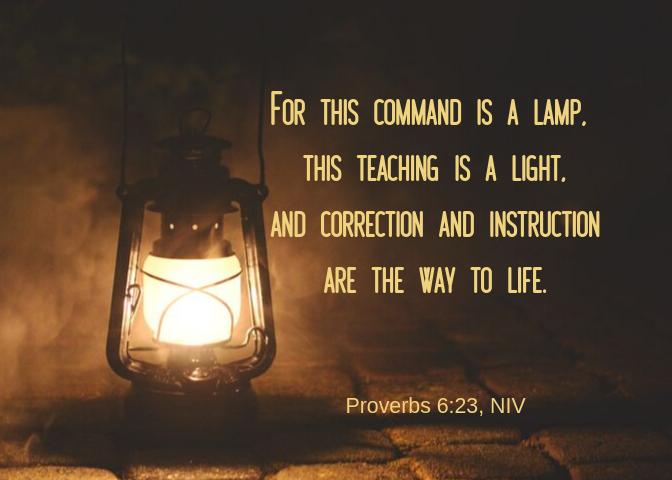 Proverbs 6 23 NIV