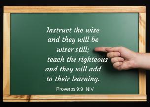 Proverbs 9 9 NIV