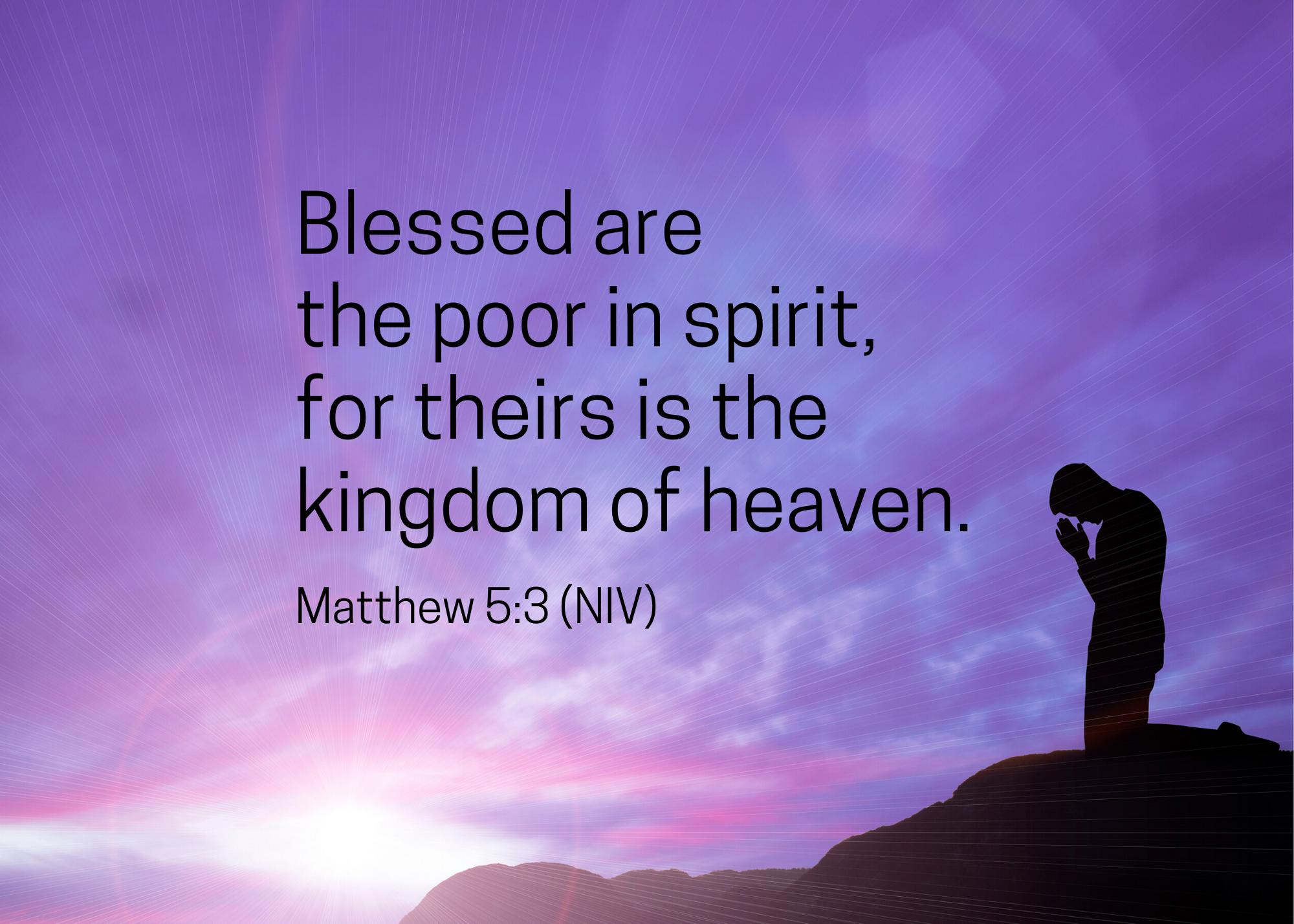 Matthew 5 3 niv