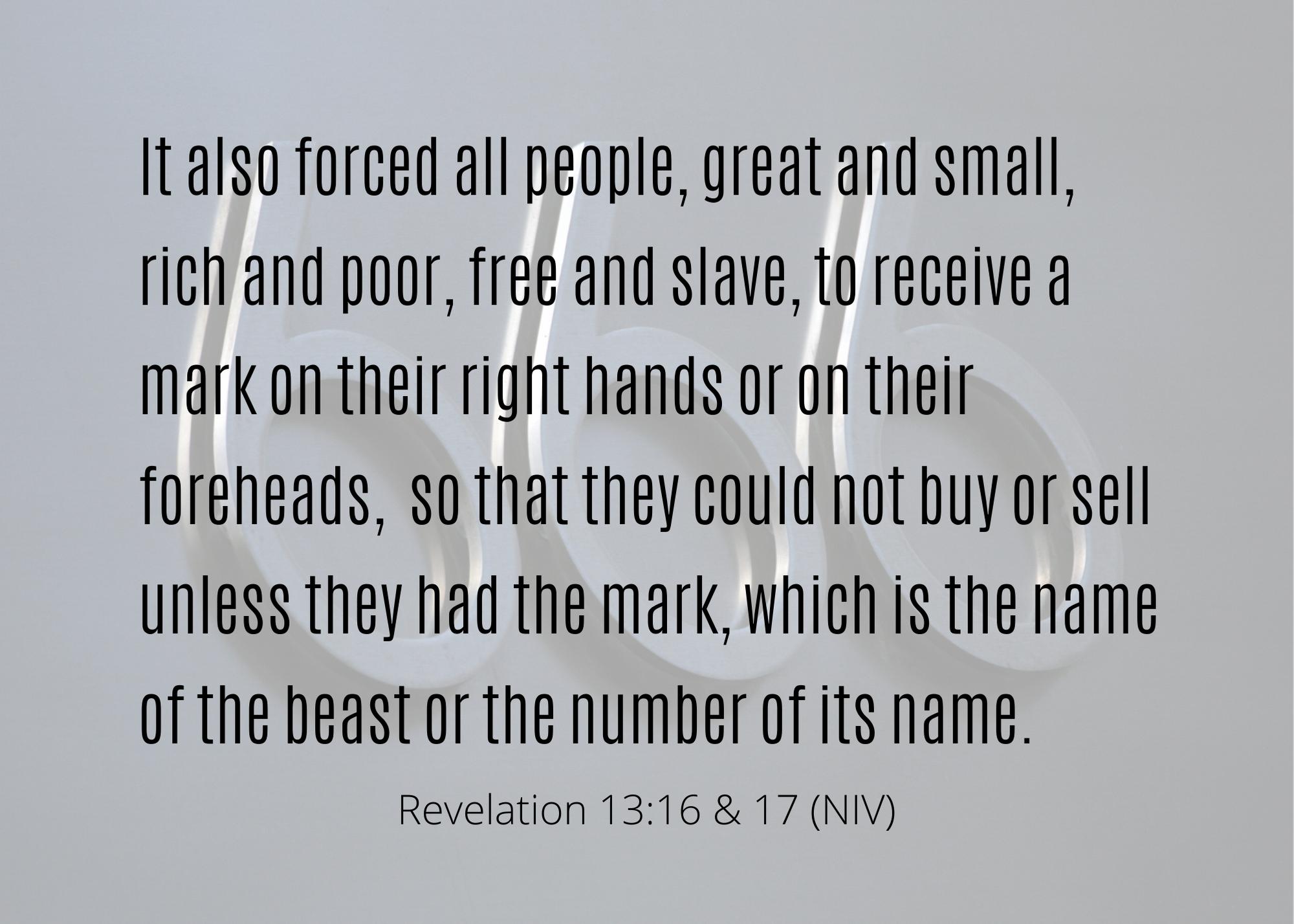 Revelation 13 16 17 NIV
