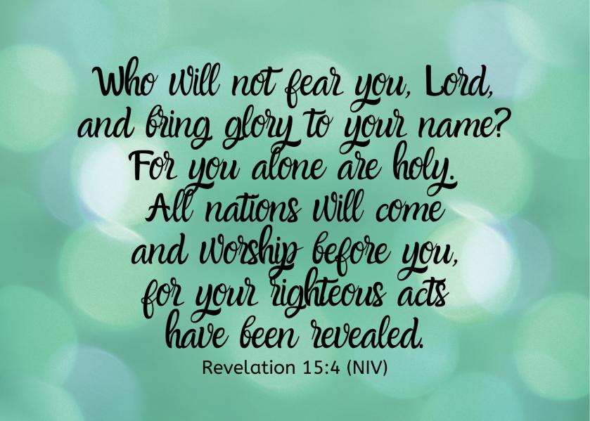 Revelation 15 4 NIV