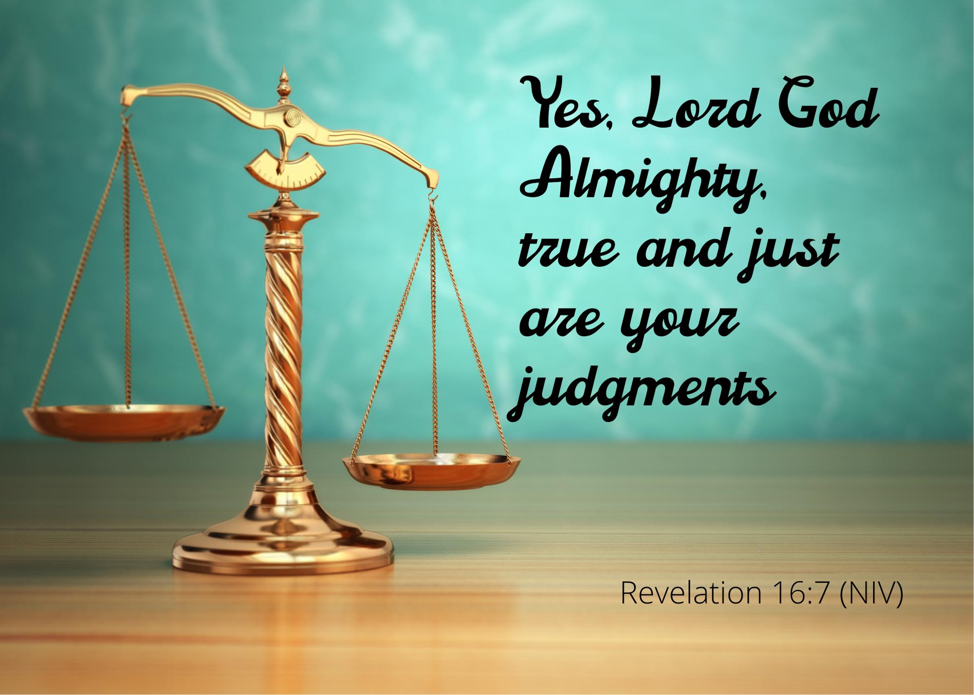 Revelation 16 7 NIV