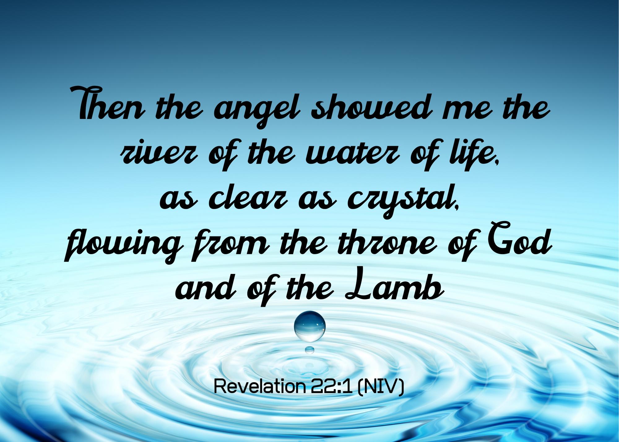 Revelation 22 1 NIV