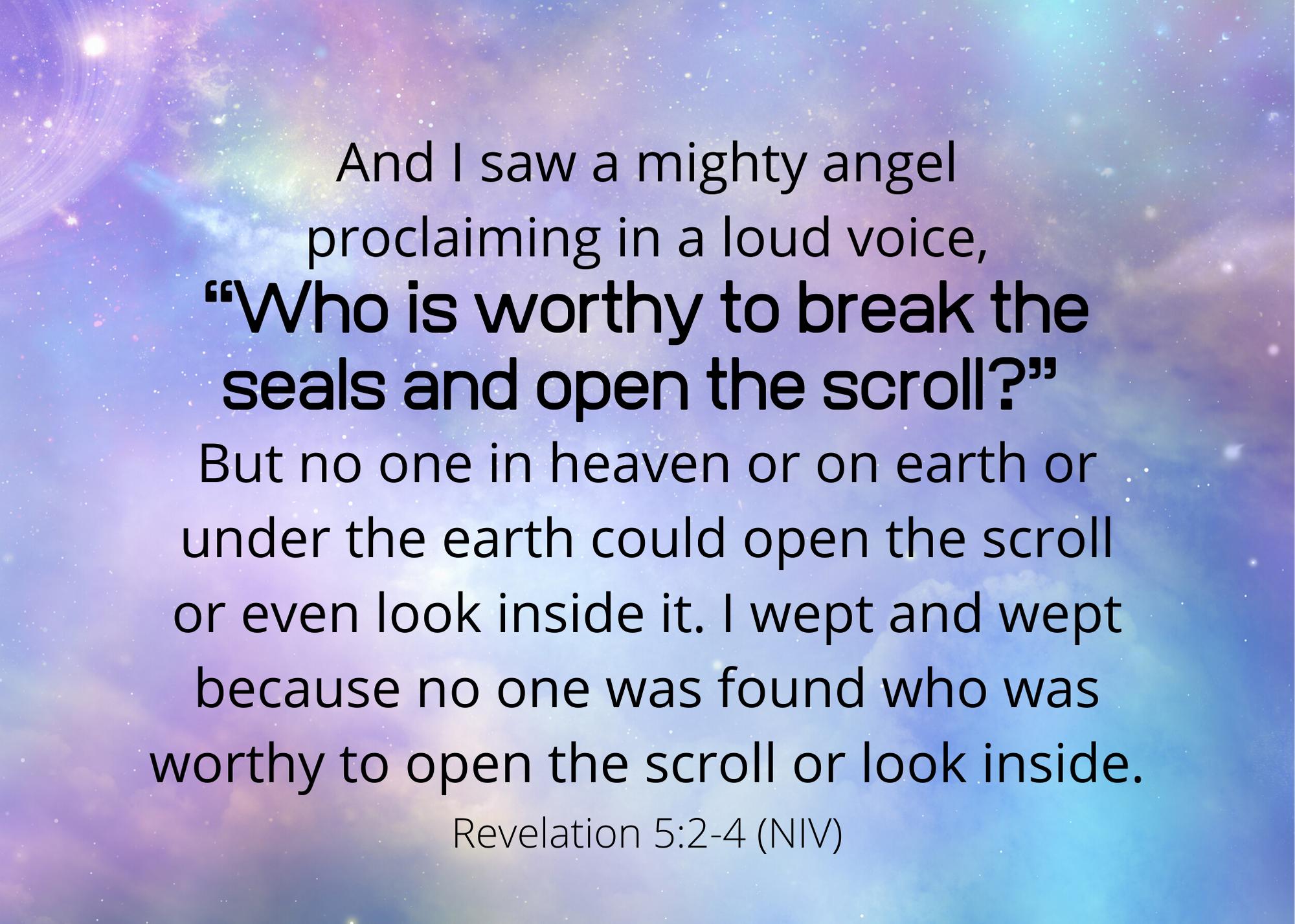 Revelation 5 2 4 NIV