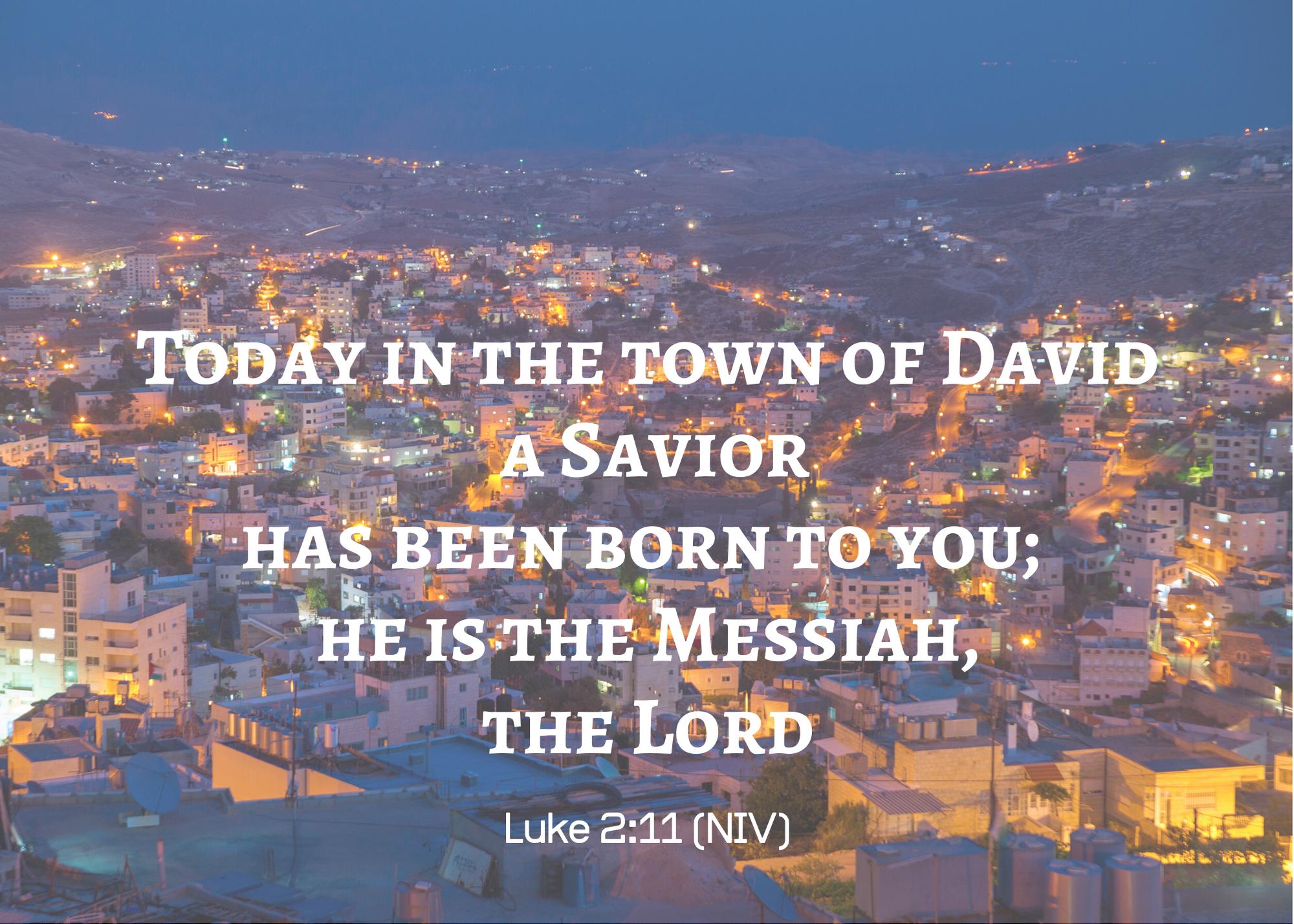 Luke 2 11 NIV