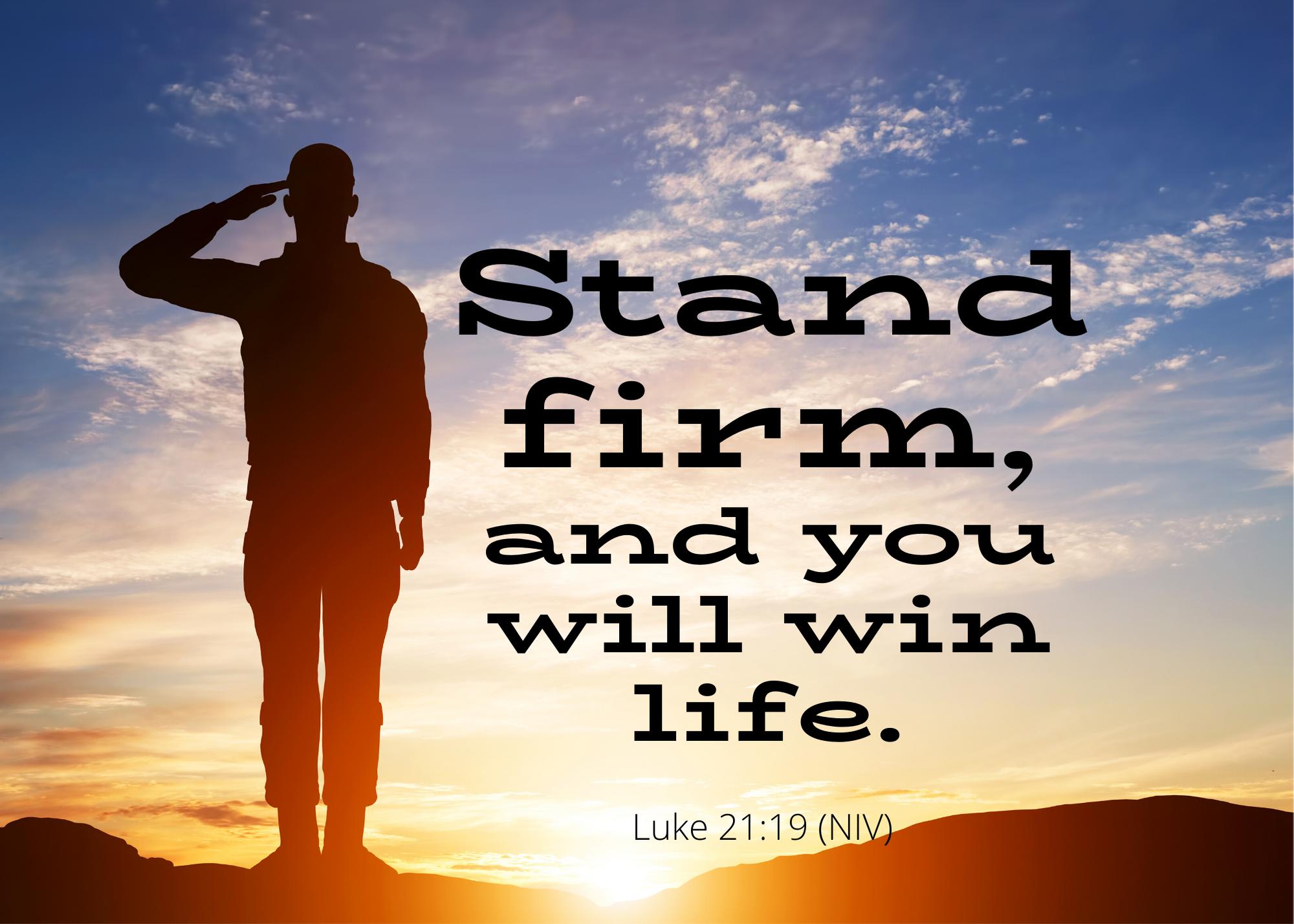 Luke 21 19 NIV