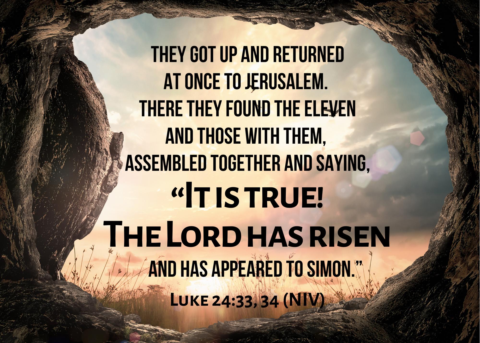 Luke 24 33 34 NIV