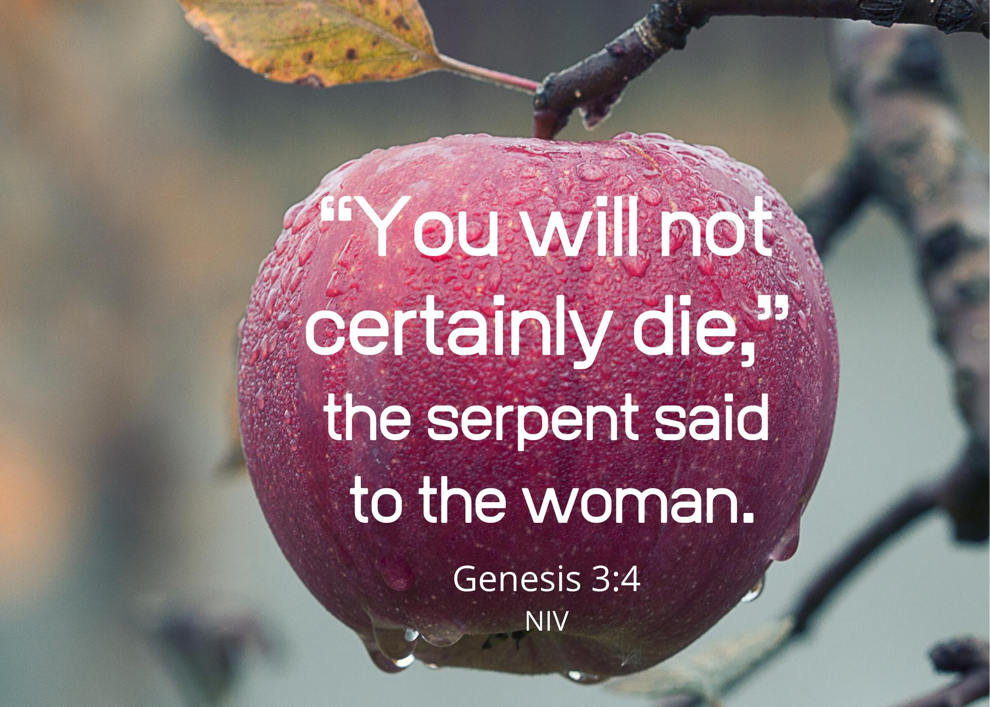 Genesis 3 4 (NIV)
