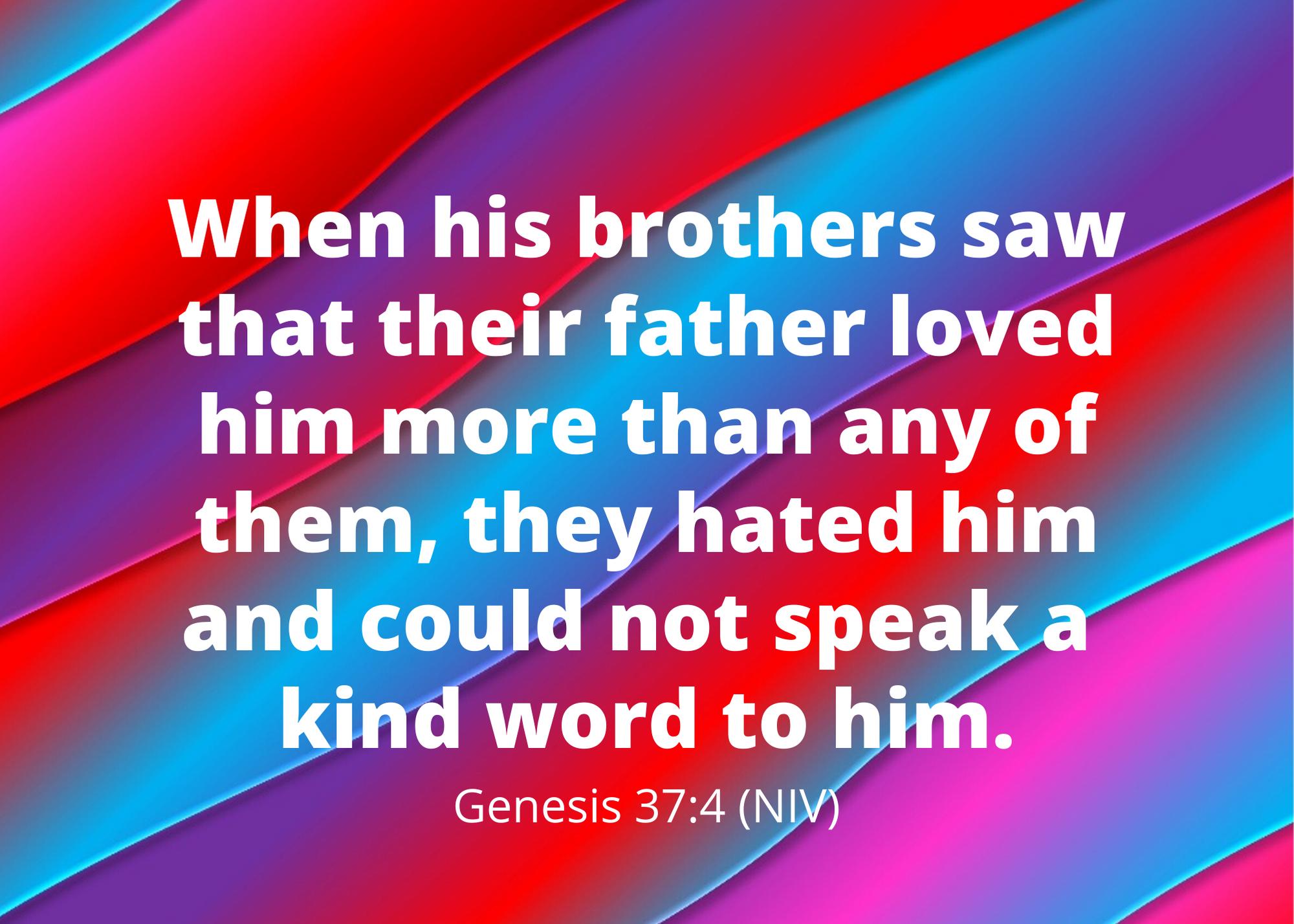 Genesis 37 4 NIV