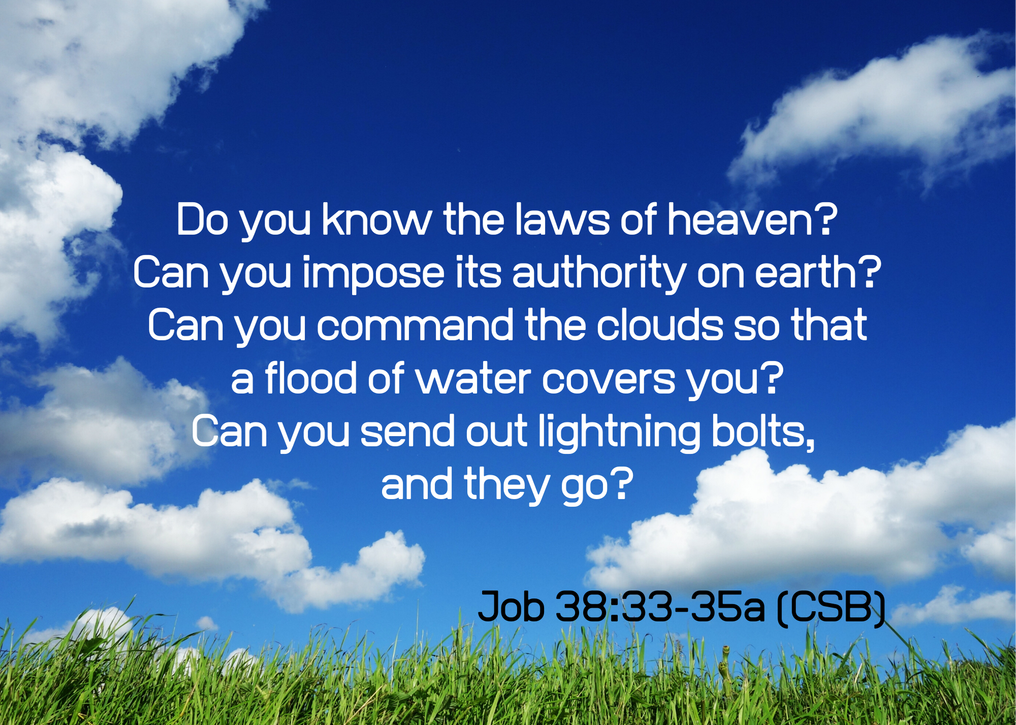 Job 38 33 35a CSB