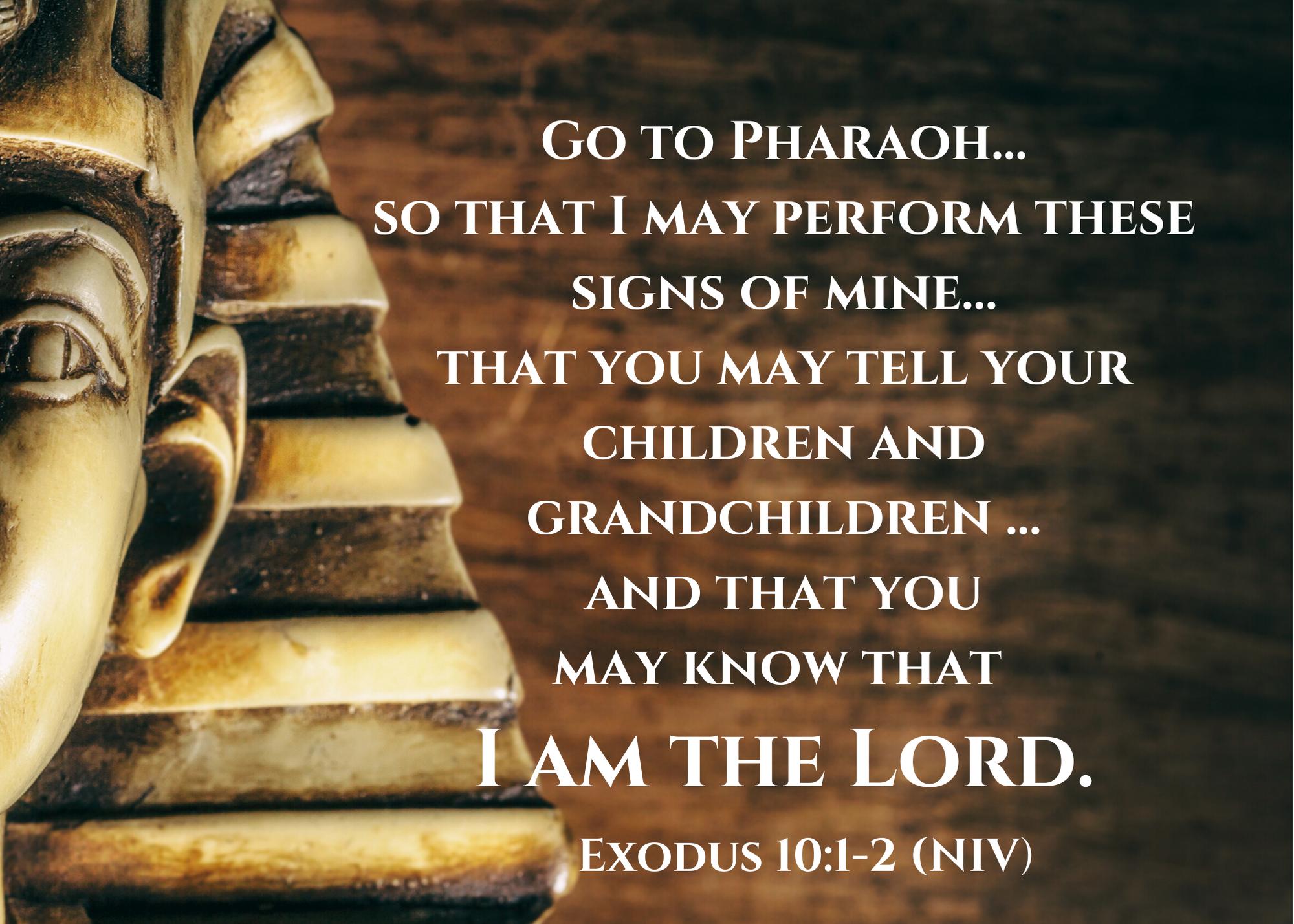 Exodus 10 1 2 NIV