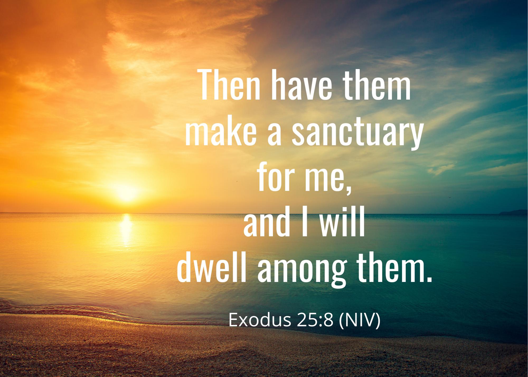Exodus 25 8 NIV