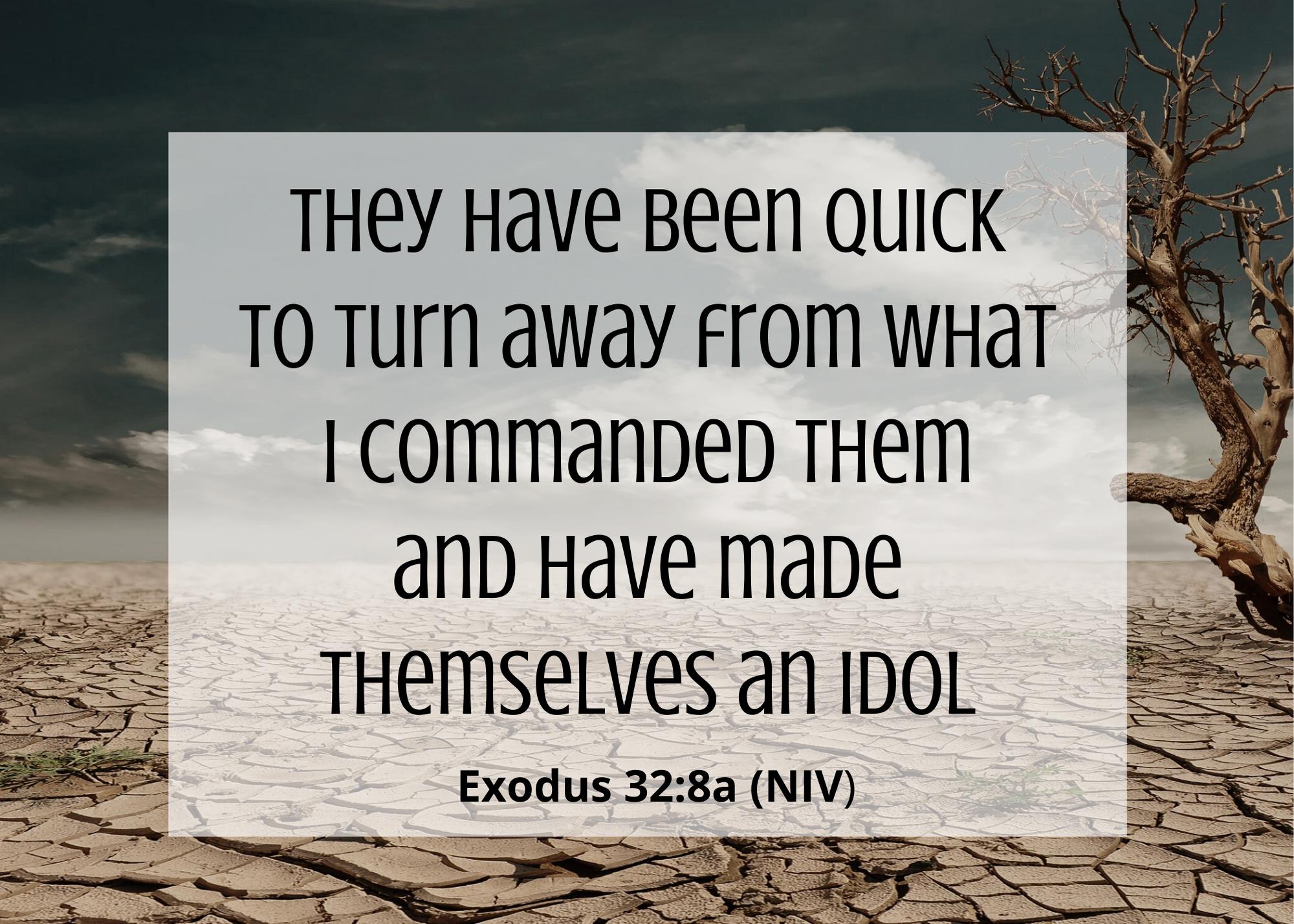 Exodus 32 8 a NIV