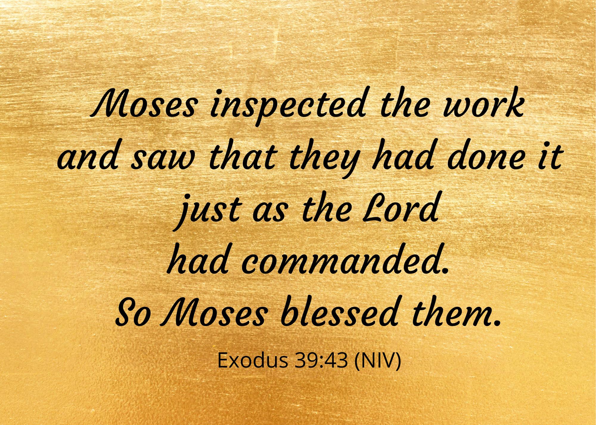 Exodus 39 43 NIV