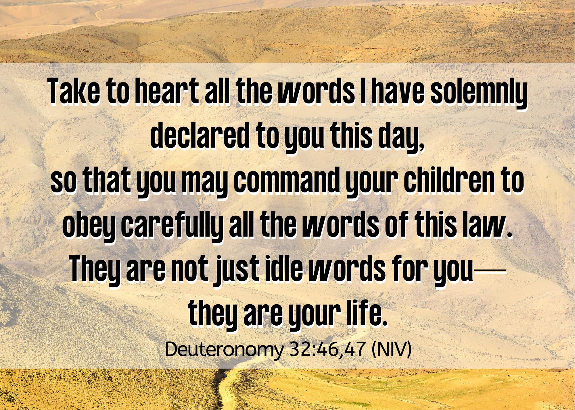 Deuteronomy 32 46 47 NIV