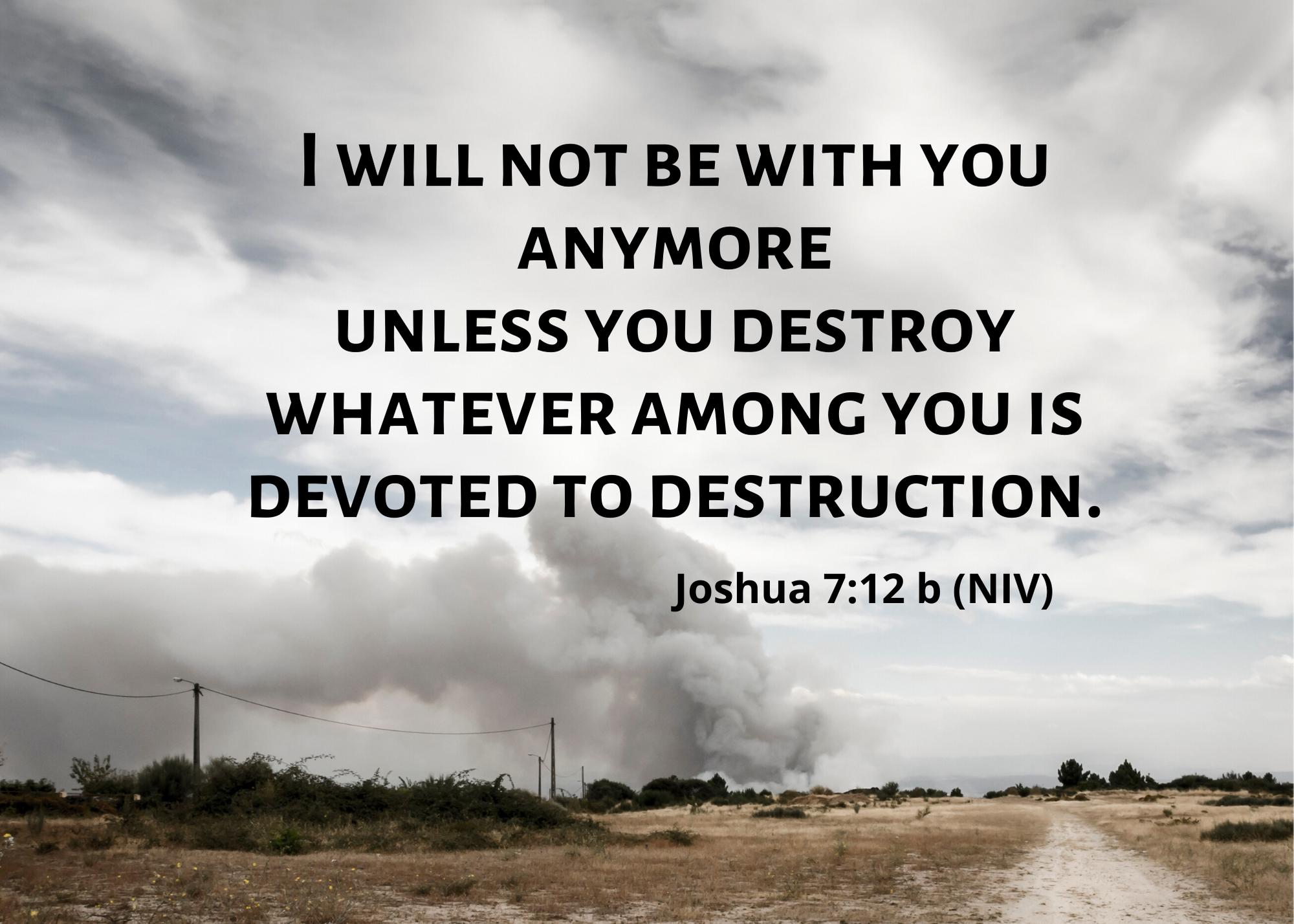 Joshua 7 12 b NIV